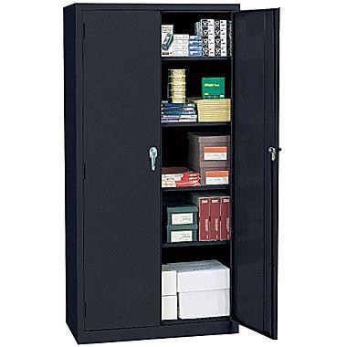 Sandusky Lee Steel 72 Storage Cabinet With 4 Shelves Black