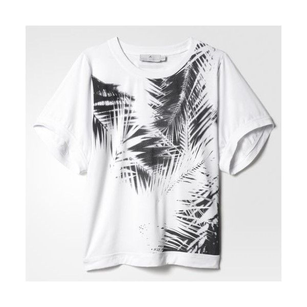 adidas Essentials Palm Tee - White | adidas MLT ($58) ❤ liked on Polyvore featuring tops, t-shirts, white t shirt, palm tree tee, adidas top, adidas t shirt and palm tee