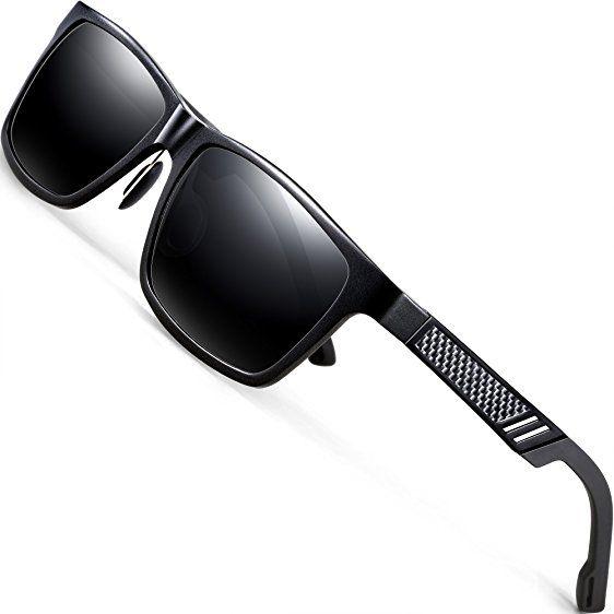 ATTCL Hombre polarizado Wayfarer gafas de sol Al-Mg marco de Metal ...