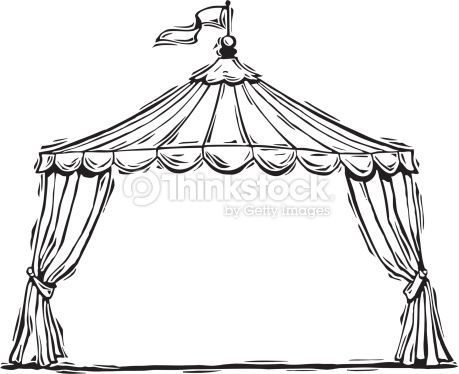 Vector Art  Circus tent mortice  sc 1 st  Pinterest : black and white circus tent - memphite.com