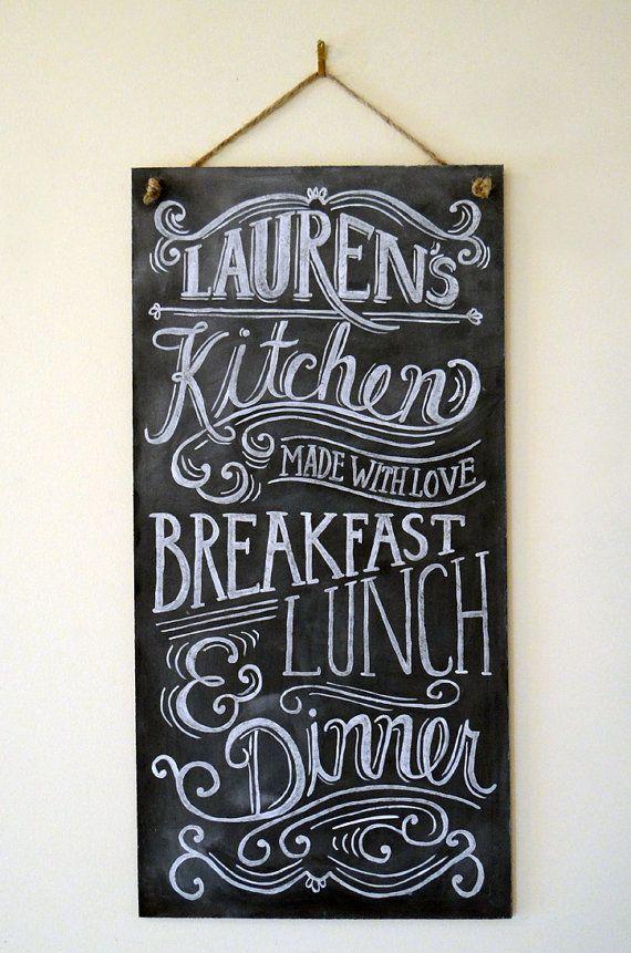 Custom+Chalkboard++Kitchen+Chalkboard+Sign++by+LilyandVal+on+Etsy,+$