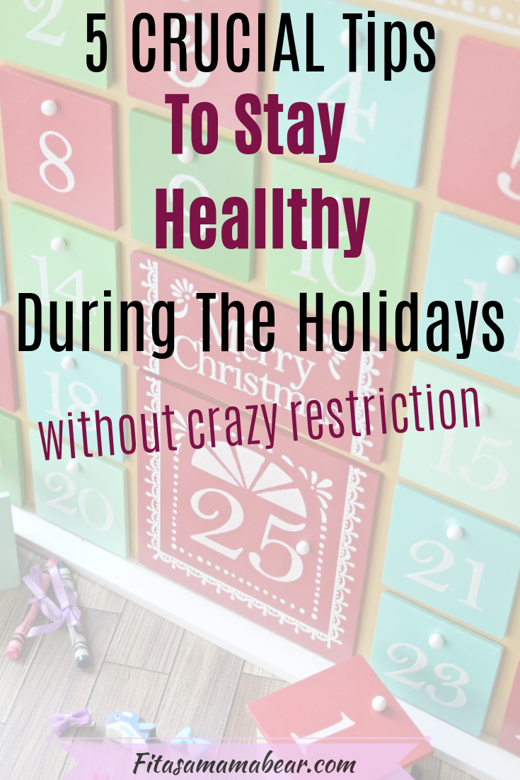 Tips to stay healthy during the Christmas season without dieting while still enjoying food #christma...