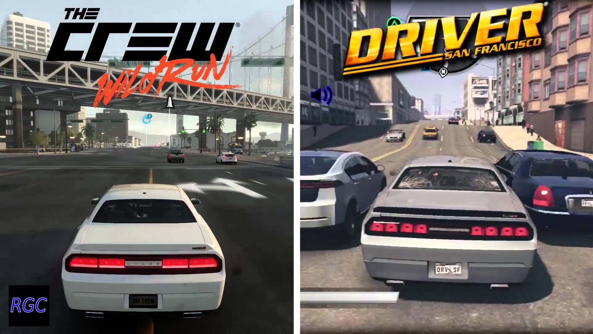 The Crew Wild Run Vs Driver San Francisco Dodge Challenger Srt Eight Graphics Sound Comparison Dodge Challenger Srt San Dodge Challenger