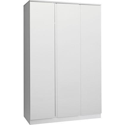 Hygena Harpur High Gloss 3 Door Wardrobe White At Homebase Be
