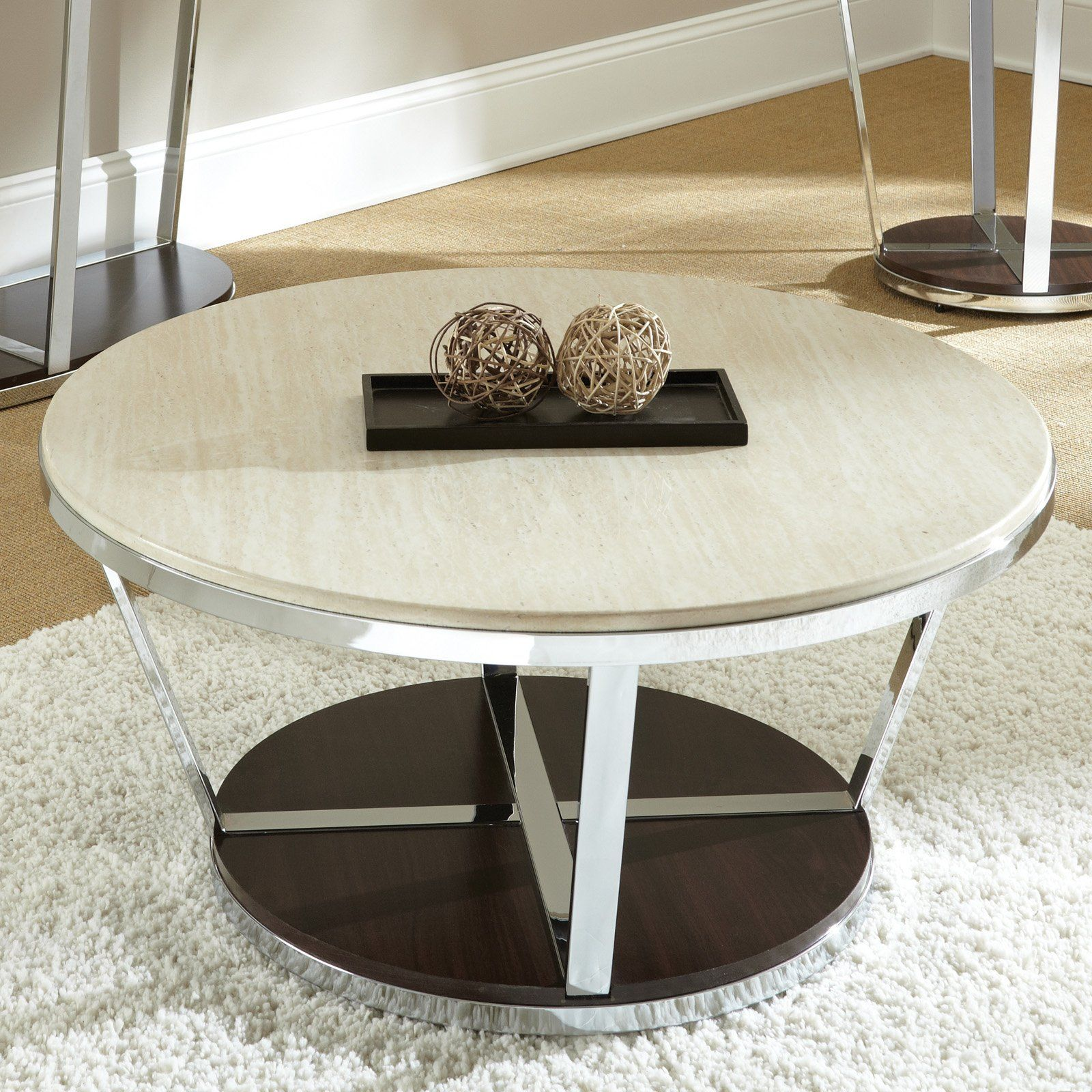 Have To Have It Steve Silver Bosco Round Faux Marble Coffee Table With Casters 314 Marble Coffee Table Set Faux Marble Coffee Table Coffee Table With Casters [ 1600 x 1600 Pixel ]