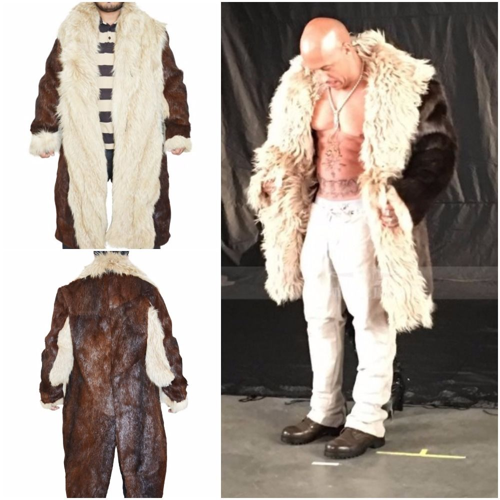 The Coat Is Totally Made From Brown Colored Fur And