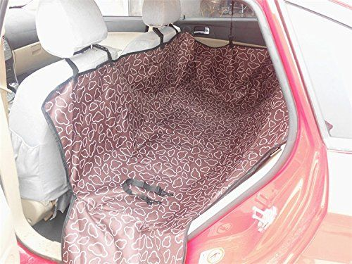 Pet Dog Cat Car Rear Back Seat Carrier Cover Pet Dog Mat Blanket Cover Mat Hammock Cushion Protector (Coffee)