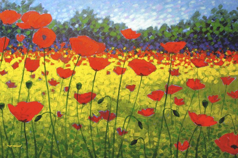 Poppies Country\' by John Nolan Painting Print on Wrapped Canvas ...