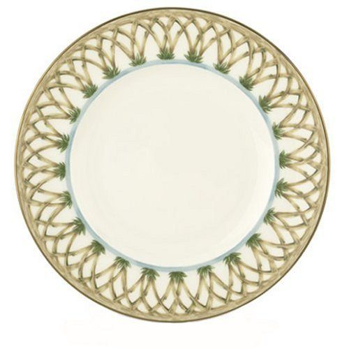 Lenox Colonial Bamboo Gold Banded Bone China 9-Inch Accen…
