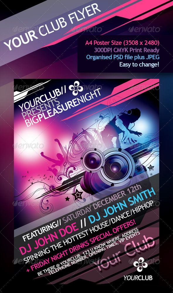 YourClub - Dance Party Flyer / Poster #GraphicRiver YourClub Party ...