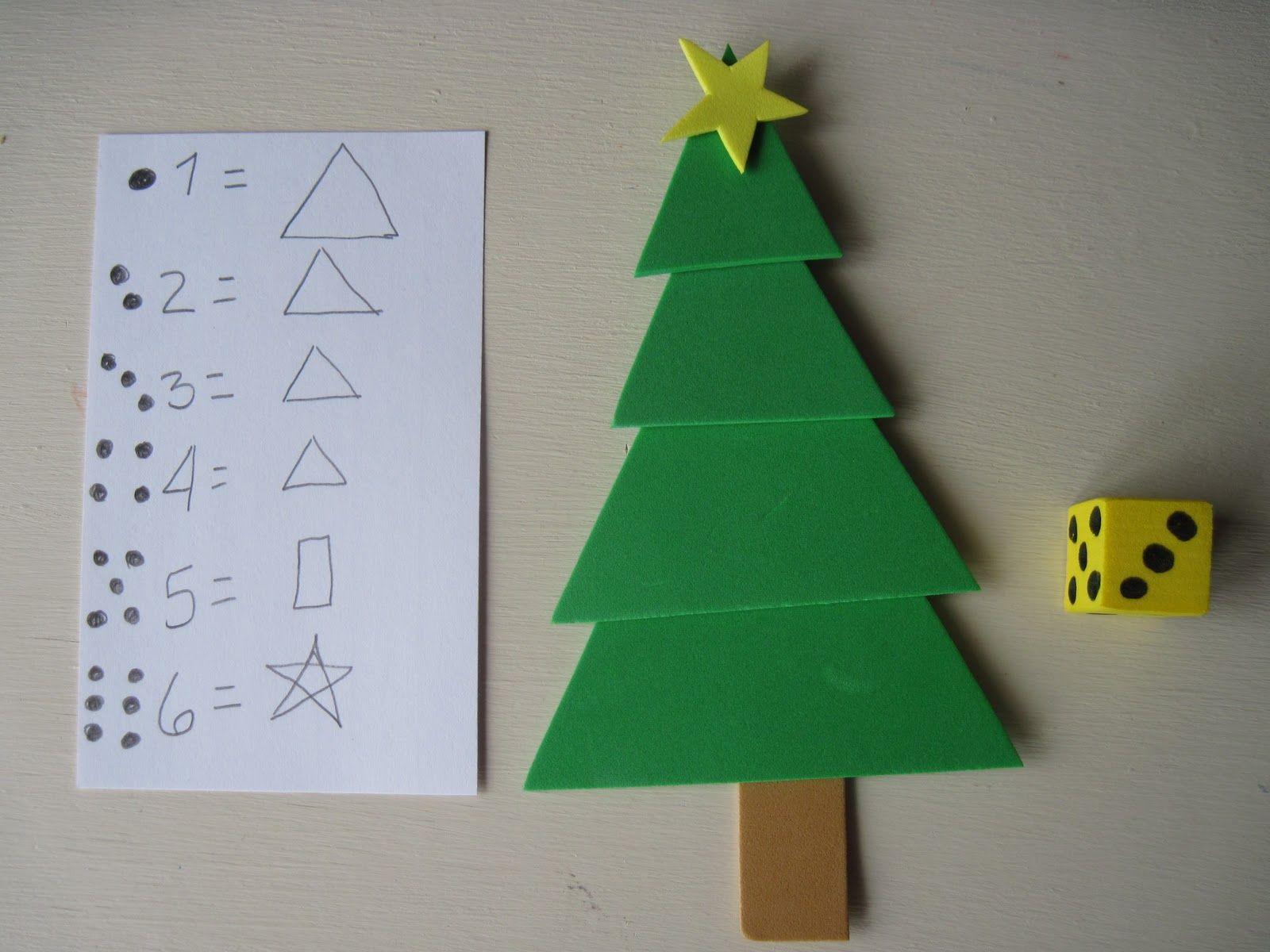 Kids Matter Roll a Tree Math Game Christmas math