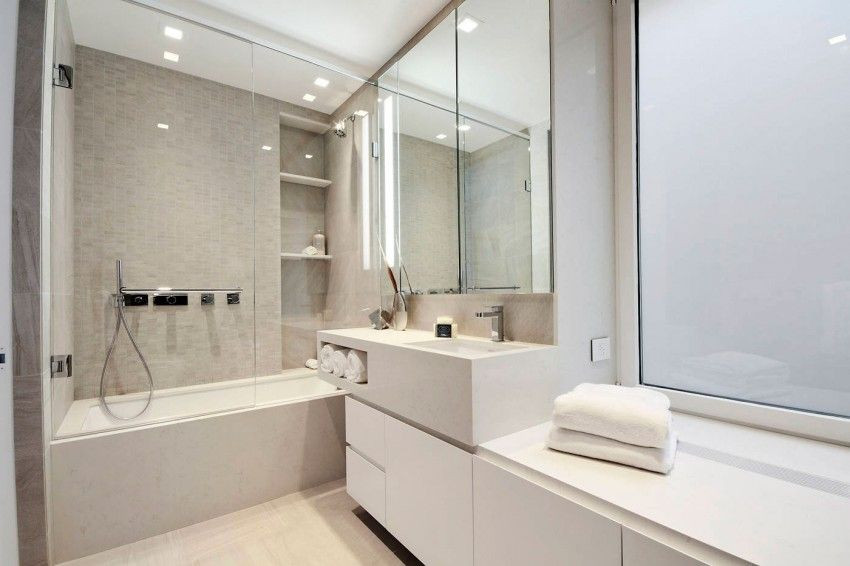 PreWar Modern Duplex On Central Park West Apartments Modern And Bath Mesmerizing Central Park Bathrooms