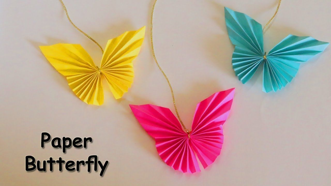 Easy Paper Butterfly Origami Butterfly Easy Paper Crafts Diy Crafts Youtube Paper Butterfly Crafts Origami Butterfly Easy Easy Paper Crafts Diy