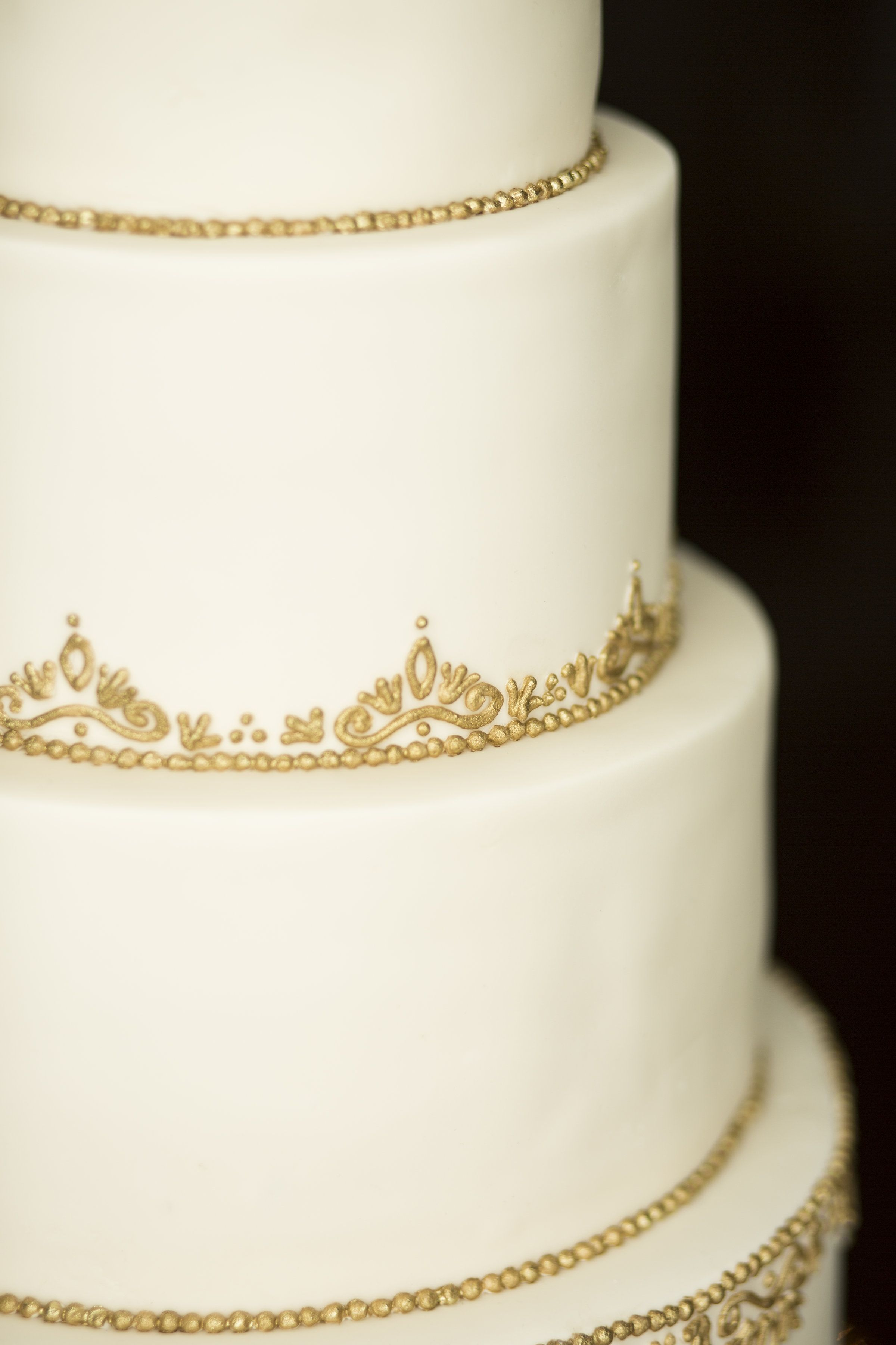 The Cake Flower Ivory And Gold Wedding Filigree Was Hand Piped With Royal Icing Then Painted Rolkem Super Mixed Vodka