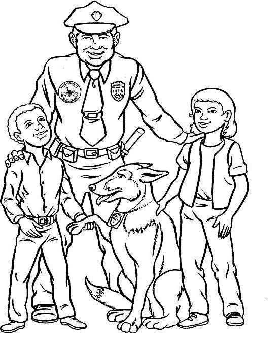 Pictures Policeman And Kids Coloring Pages Coloring Pages For