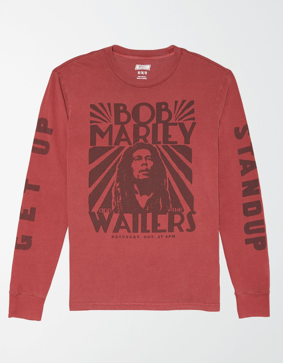 Tailgate Long Sleeve Bob Marley Graphic T Shirt Mens Outfitters Long Sleeve Tshirt Men Graphic Sweatshirt