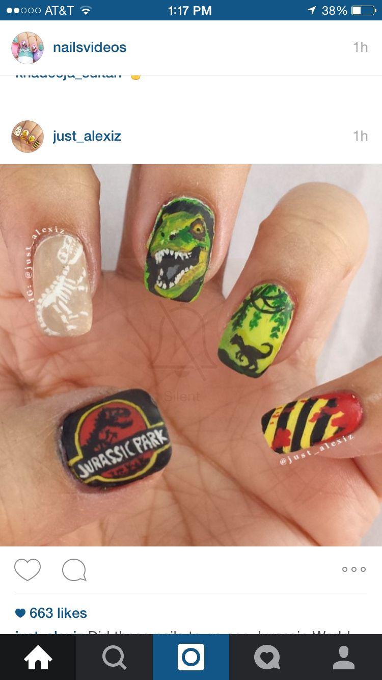 Jurassic park nails   Beauty/Style & DIY   Pinterest   Park, Nail ...