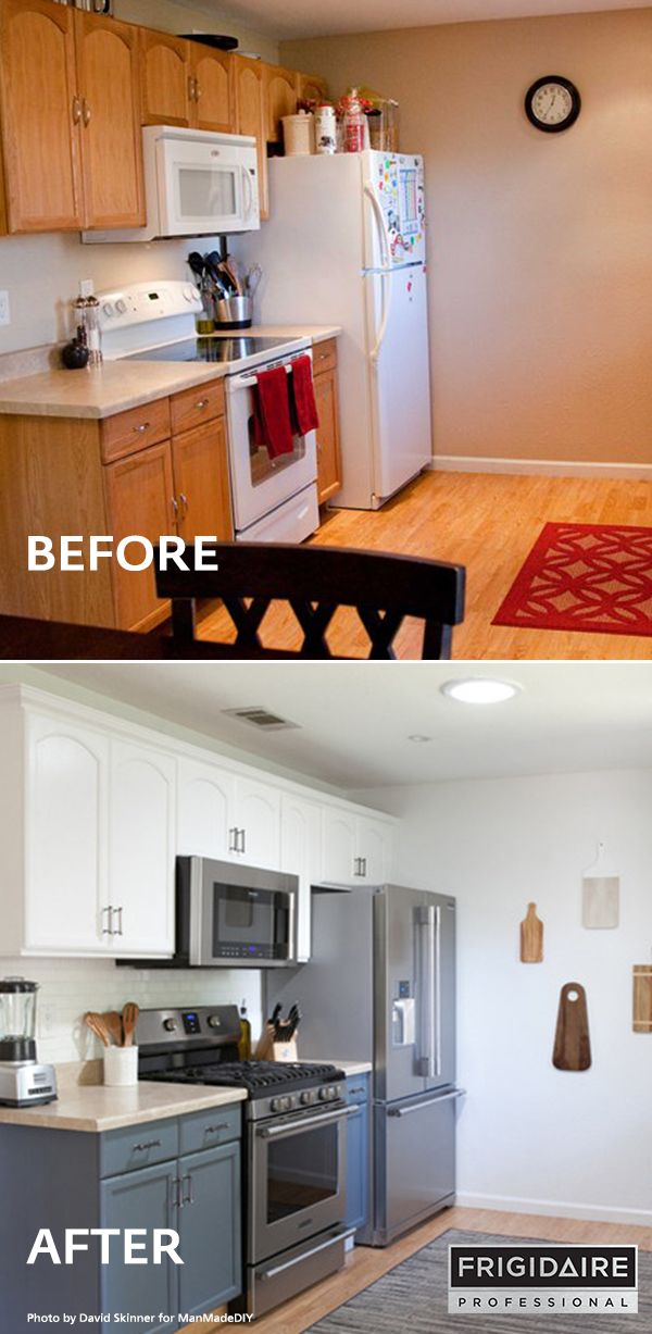 Manmadediy Renovated His Kitchen With Frigidaire Professional Appliances 5 Burner Gas Range 2 In 1 Kitchen Remodel Small Kitchen Remodel Kitchen Renovation