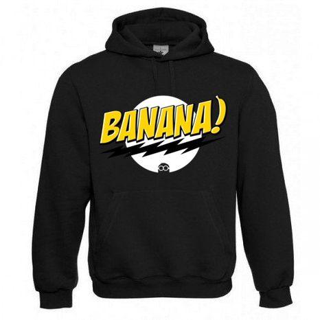"Kapuzen Sweatshirt ""Banana 3"" Fruit of the Loom, Beuteltasche, 80% Baumwolle"