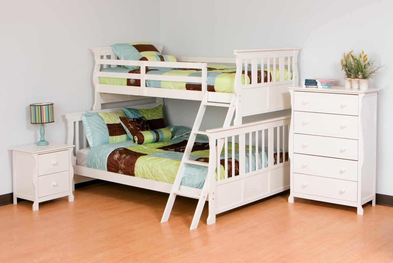 Stork Craft Carrara Twin/Double Bunk Bed, Kids Furniture