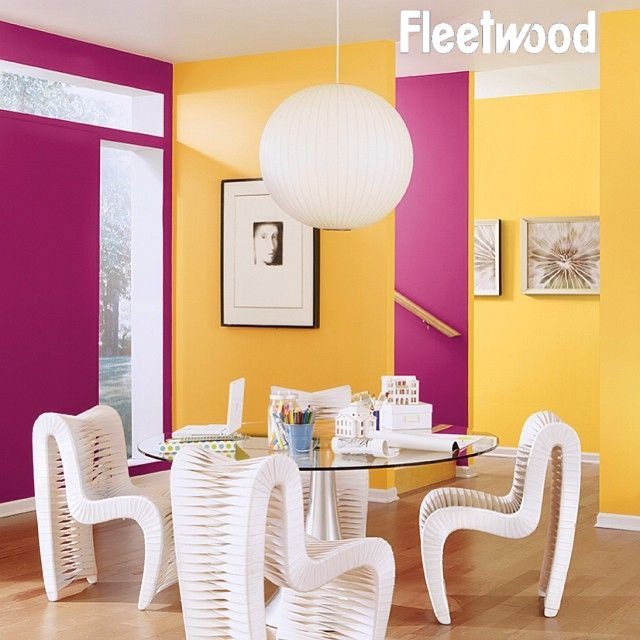 Dining Room painted in Fleetwood\'s Exuberant Pink and Hawthorne ...