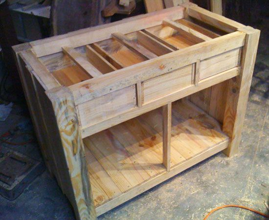 DIY Kitchen Island With Top Drawers