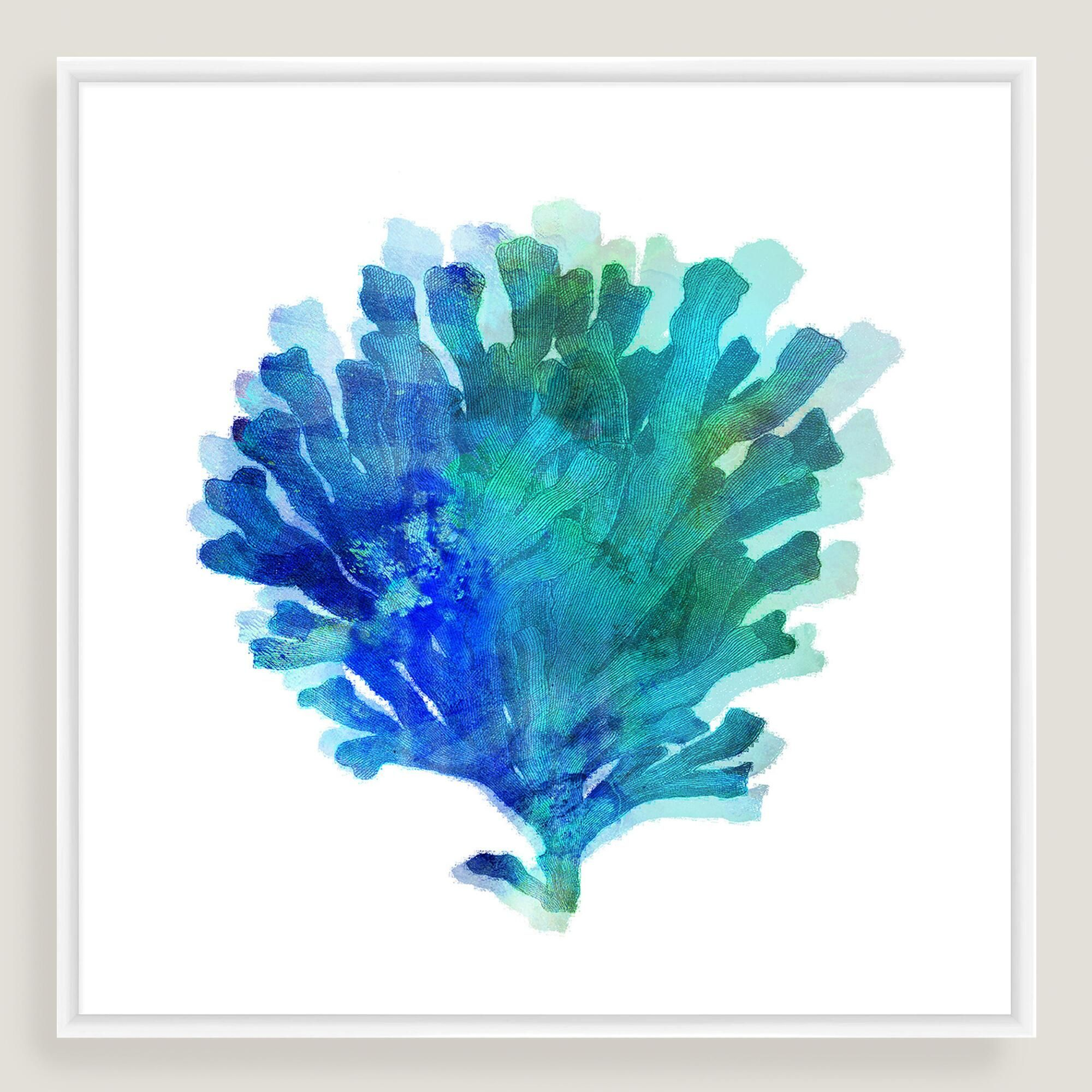 Our watercolor art print of branch coral adds a refreshing vibe to