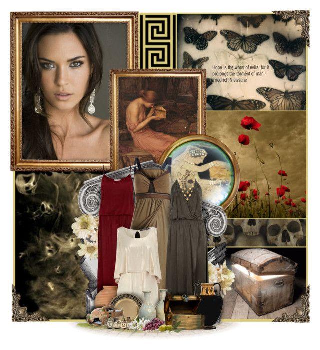 """Greek Mythology: Pandora"" by anna-nemesis ❤ liked on Polyvore featuring art"