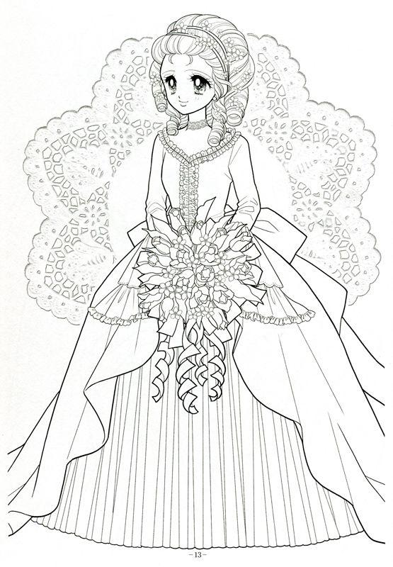 Japanese Shoujo Coloring Book 3 Mama Mia Picasa Web Albums Coloring Books Coloring Book Art Princess Coloring Pages