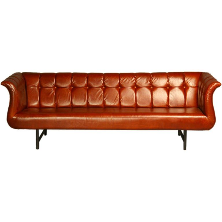 Superb Harvey Probber Gondola Sofa In Soft Oxblood Red Leather Cjindustries Chair Design For Home Cjindustriesco