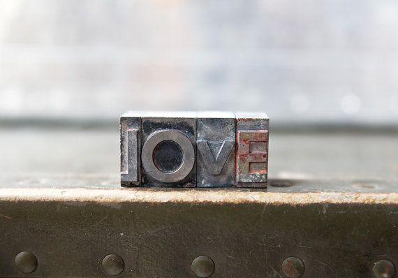 Vintage Letterpress Letters - Love / ReneeVintage
