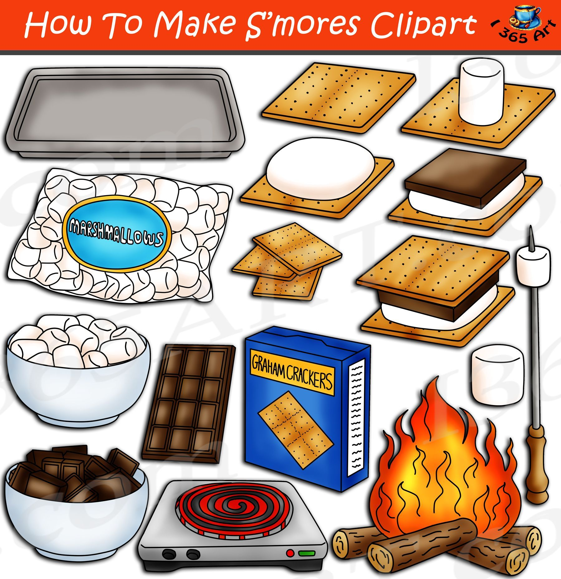 20+ Smores Clipart Black And White