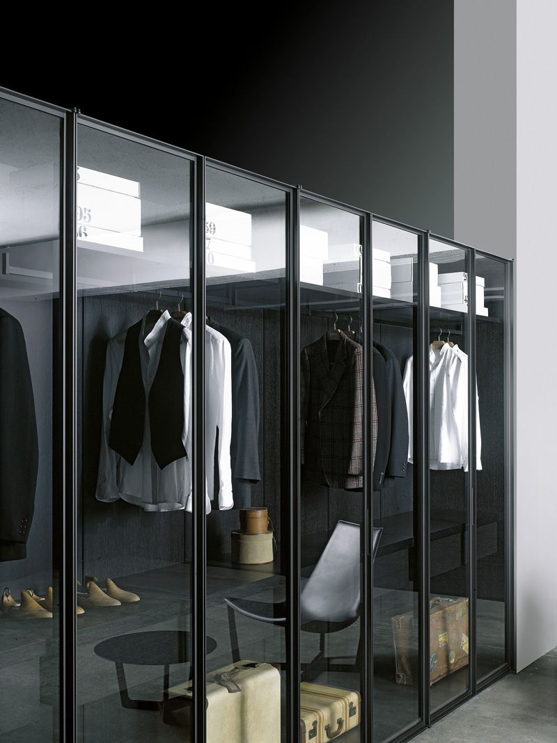 ♂ contemporary interior design modern masculine Walk-in #wardrobe STORAGE by Porro | #design Piero Lissoni, Centro Ricerche Porro