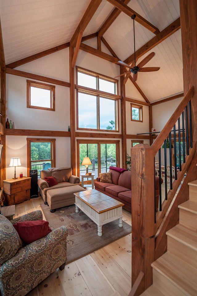 Compact Hybrid Timber Frame Home Design Photos Timber Home Living: Barn House Design, Yankee Barn Homes, Home