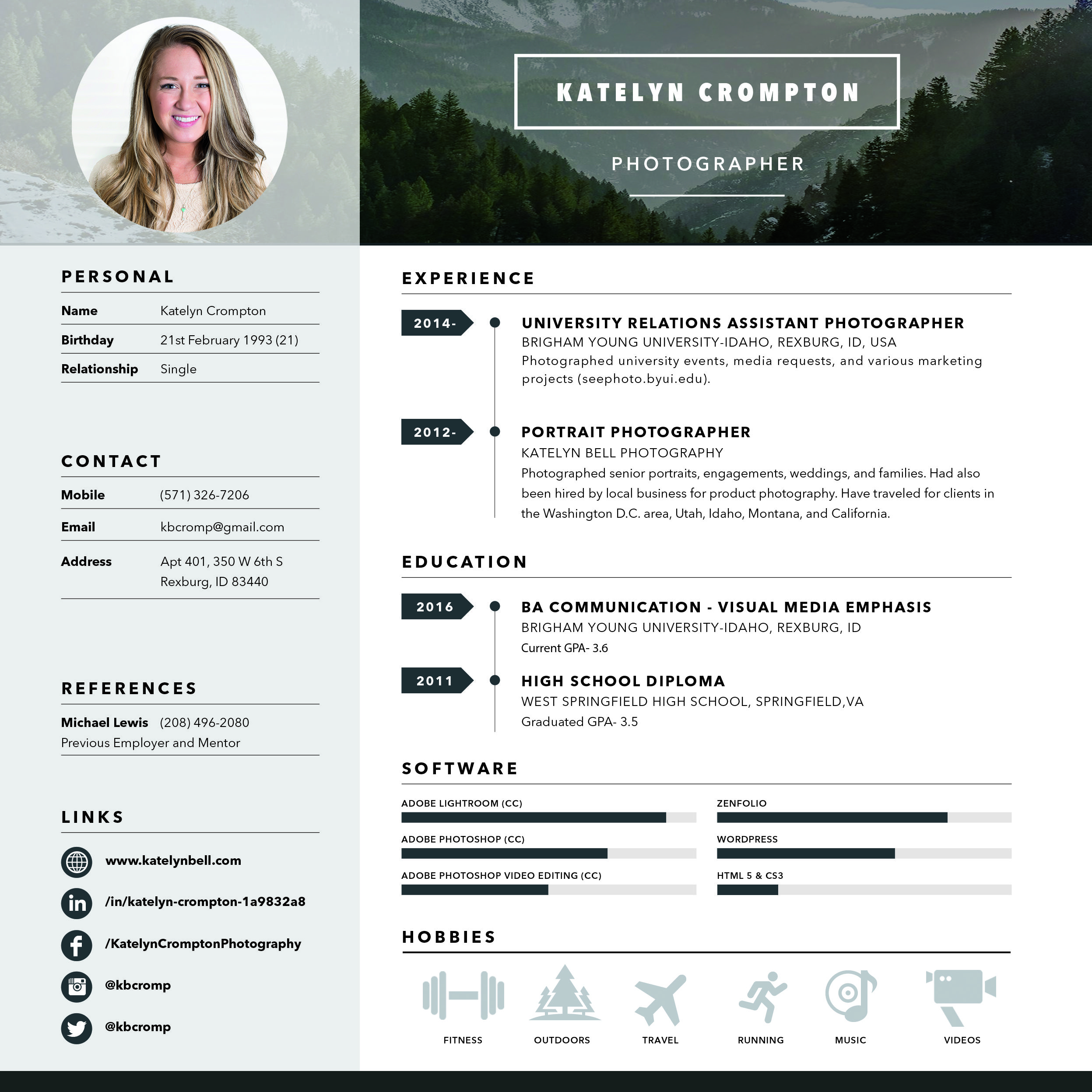 Katelyn Bell Photography Creative Handout  Identity Design