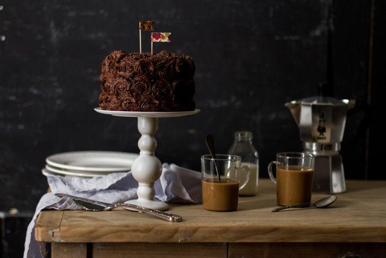 Layer cake au chocolat et praliné by Carnets parisiens
