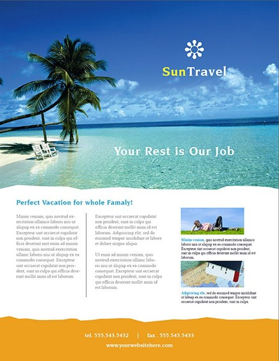 Hawaii Travel Vacation Brochure Template Design – Tourism Brochure Template