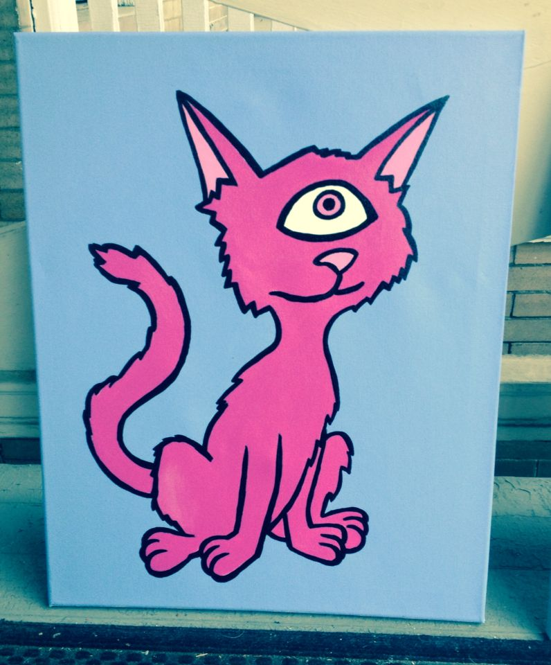 Cyclops Kitty: painting by Thomas Valentine | Art by Thomas ...