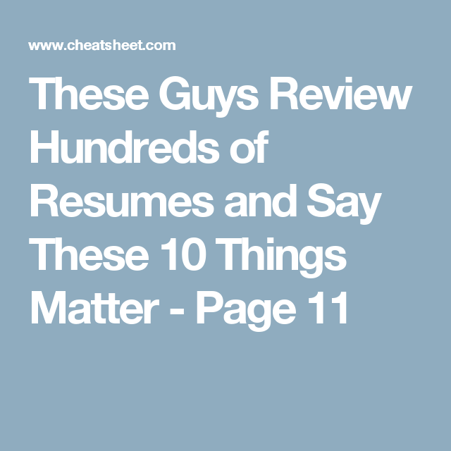 things to say on a resumes