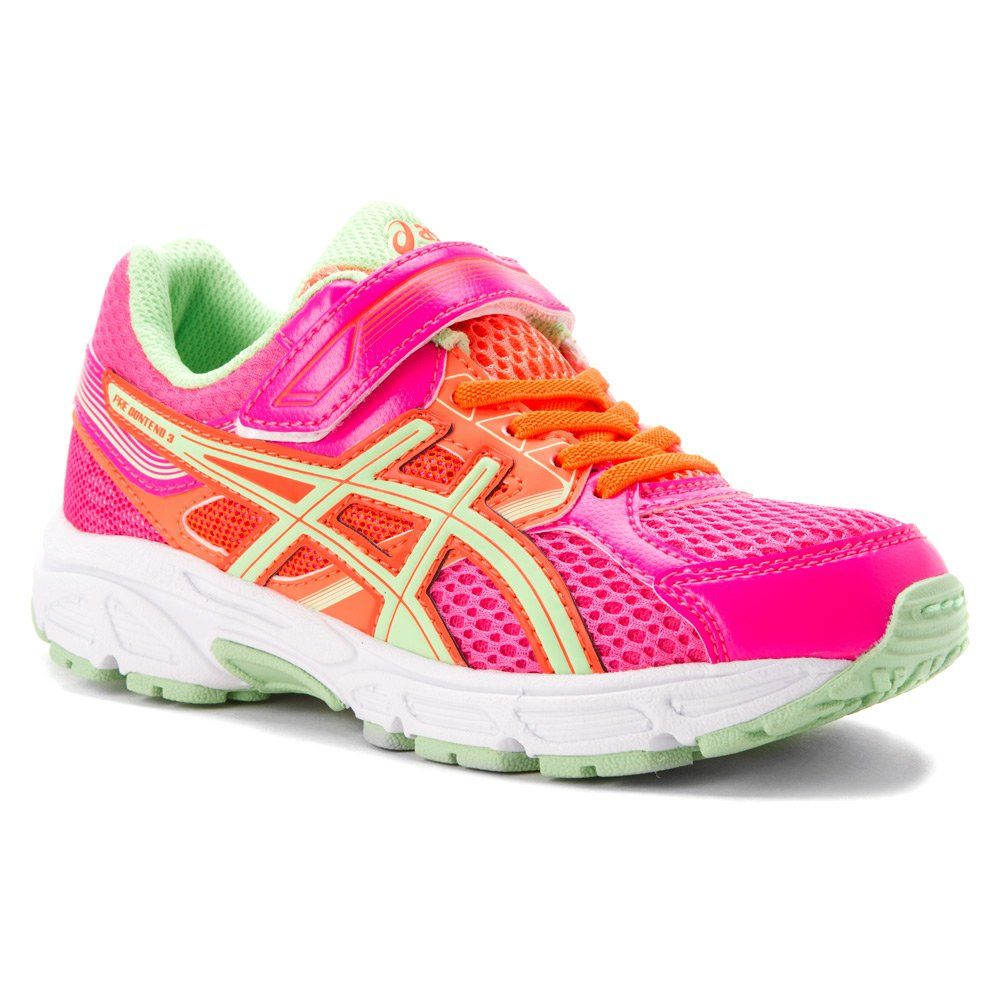 ASICS Pre Contend 3 PS Running Shoe (Little Kid), Hot Pink ...