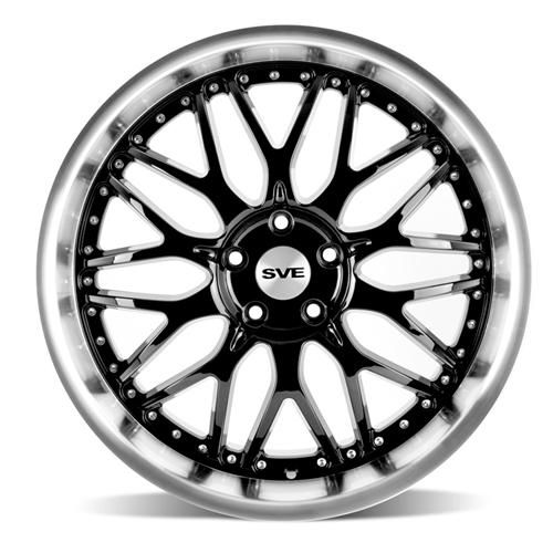 2005 19 mustang sve series 3 wheel 20x10 gloss black by sve 2010 79 Blue Mustang sve mustang series 3 wheel 20x10 gloss black w mirror lip 05 15