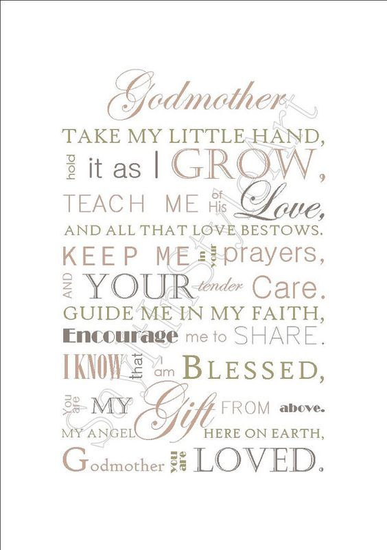Godmother Gift - Gift For Godmother - Godparent Gift ...