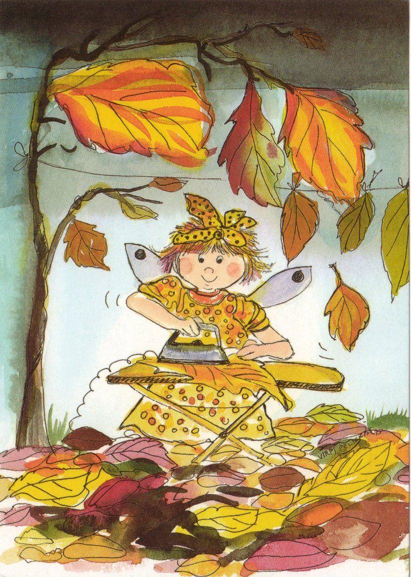 Открытки про осень для детей