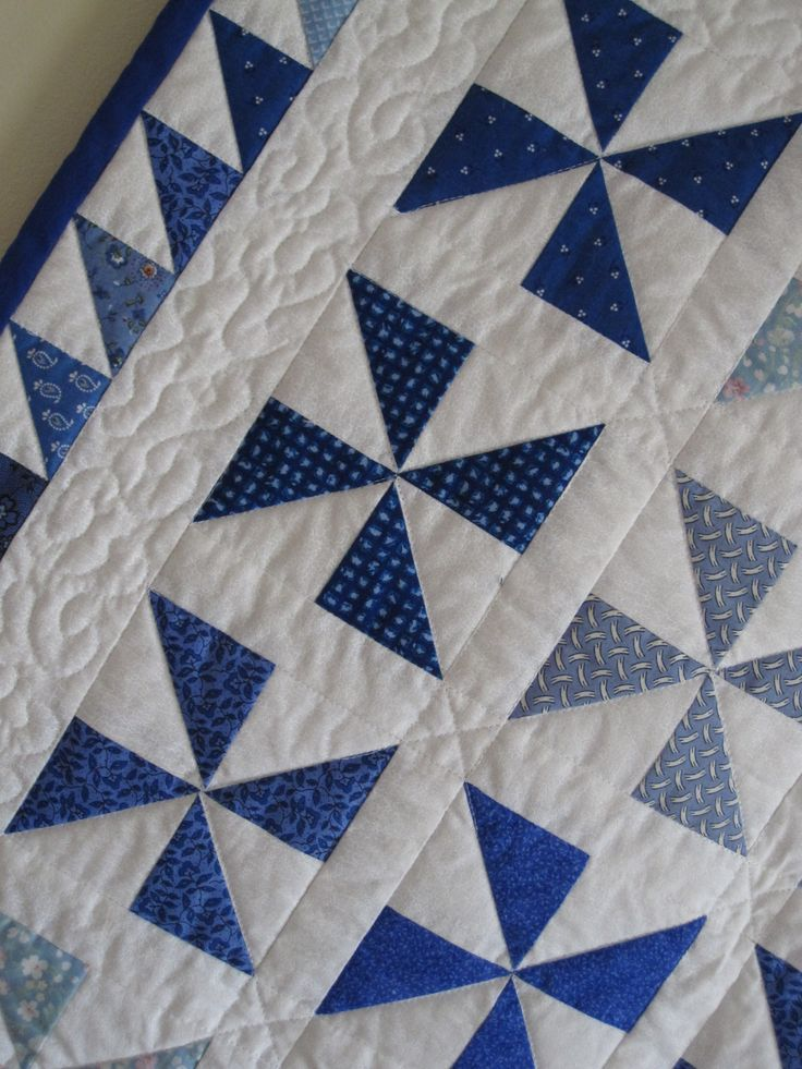 Pinwheel quilt detail - I like the triangle boarder | Quilts and ... : quilt pinterest - Adamdwight.com
