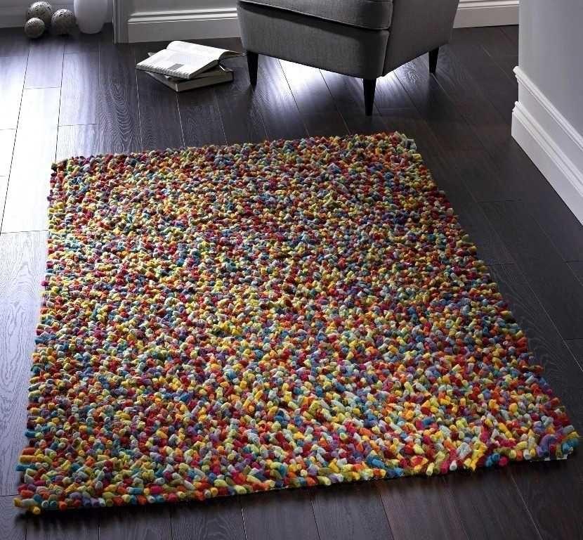 Jelly Beans Multi Wool Rugs Modern