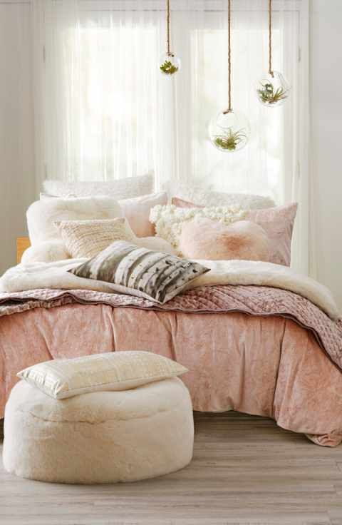 Nordstrom At Home Shimmer Velvet Duvet U0026 Levtex Crushed Velvet Quilt  Bedding Collection #decoratingideas #