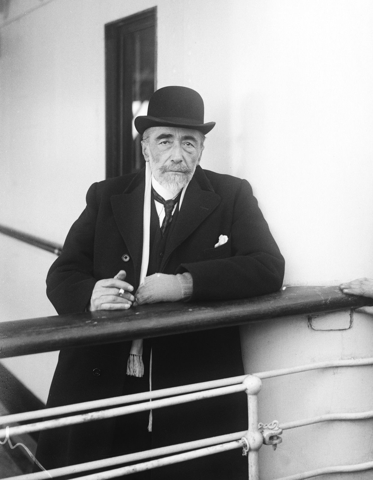 "Joseph Conrad on the SS Tuscania arriving in New York, 1923 - ""Your strength is just an accident owed to the weakness of others."" ―  Heart of Darkness"