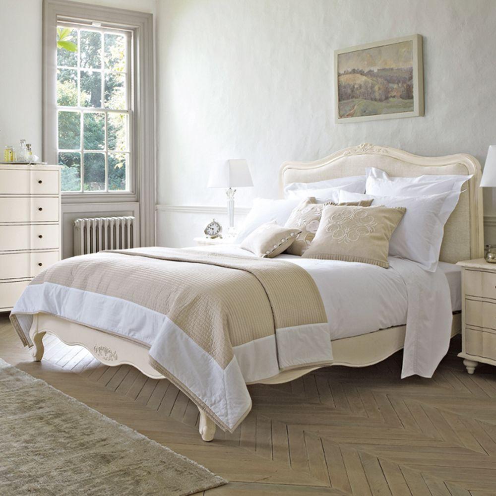 Best Amelie White Wooden Bedstead Feather Black Luxury 400 x 300