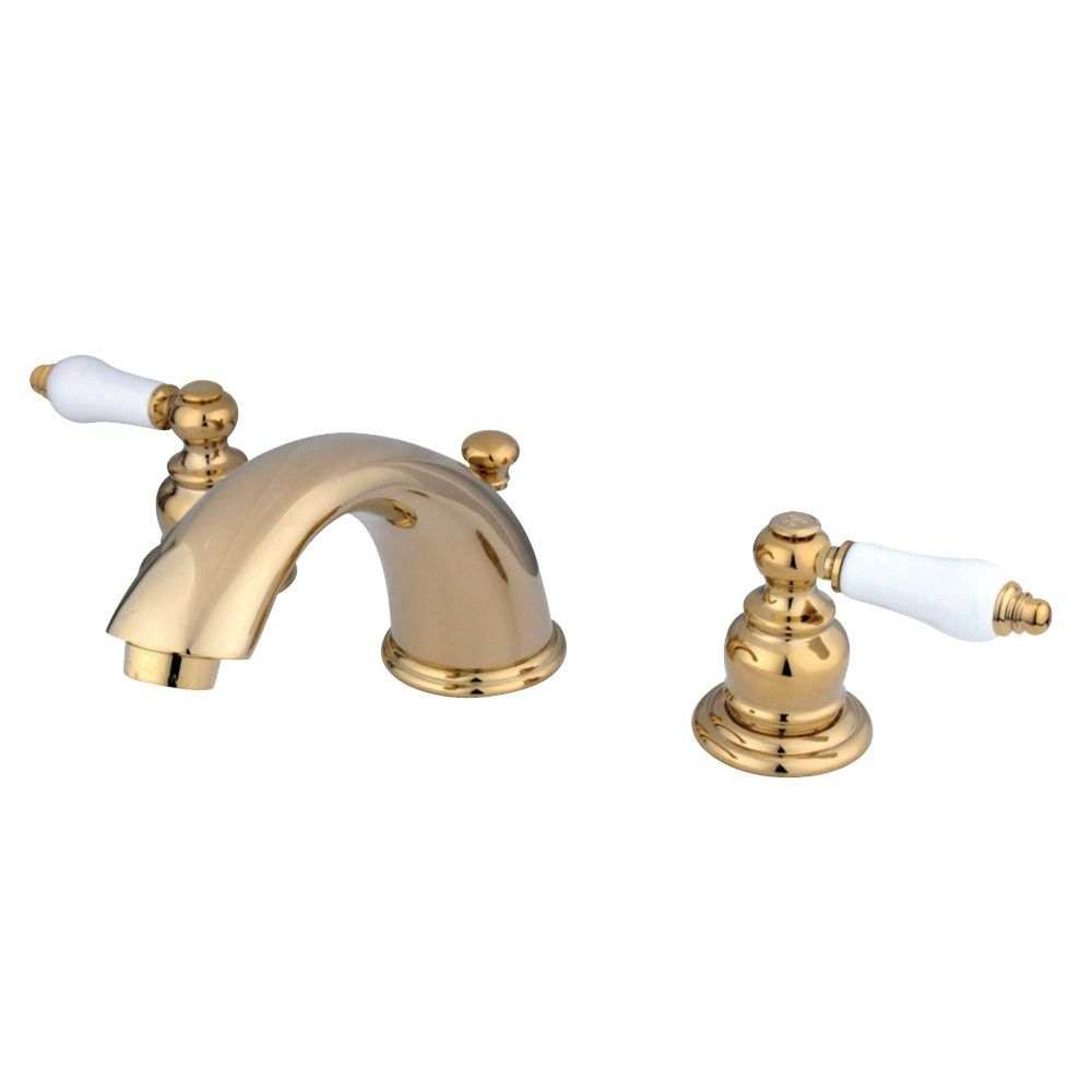 KB962PL Magellan Widespread Lavatory Faucet, Polished Brass ...