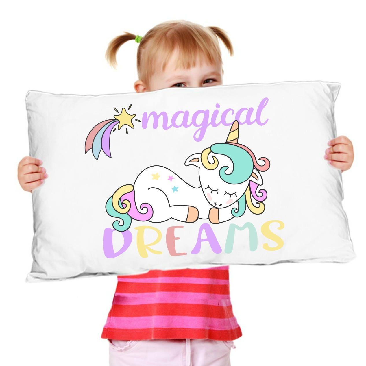 Unicorn pillowcase gift for girls magical dreams unicorn pillowsham